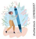 vector cartoon illustration of... | Shutterstock .eps vector #1198582057