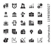 financial glyph vector icons  | Shutterstock .eps vector #1198585027