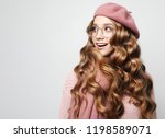 beautiful young female model... | Shutterstock . vector #1198589071