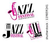 vector logo of jazz festival | Shutterstock .eps vector #119859241