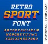 retro sport alphabet font.... | Shutterstock .eps vector #1198594654