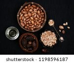 argan seeds and argan oil | Shutterstock . vector #1198596187