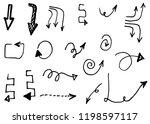 doodle hand drawn vector arrows ...   Shutterstock .eps vector #1198597117