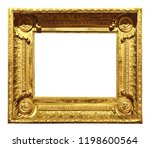 gold vintage frame isolated on... | Shutterstock . vector #1198600564