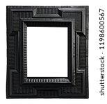 wooden black vintage frame... | Shutterstock . vector #1198600567