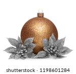 group of gold christmas balls... | Shutterstock . vector #1198601284