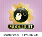 gold badge or emblem with... | Shutterstock .eps vector #1198602931