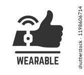 vector wearable flat isolated... | Shutterstock .eps vector #1198606714