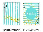 bridal shower set with dots and ... | Shutterstock .eps vector #1198608391
