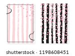 bridal shower set with dots and ... | Shutterstock .eps vector #1198608451
