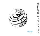 abstract creative monochrome... | Shutterstock .eps vector #1198617331