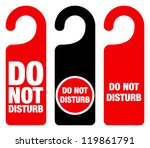 do not disturb sign   red hotel ... | Shutterstock .eps vector #119861791
