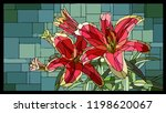 vector angular mosaic with... | Shutterstock .eps vector #1198620067