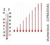 set of realistic capillary tube ... | Shutterstock .eps vector #1198620181
