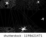 illustration with spider web... | Shutterstock .eps vector #1198621471