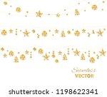 christmas golden decoration... | Shutterstock .eps vector #1198622341