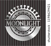 moonlight silvery badge | Shutterstock .eps vector #1198629421