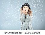 Winter Portrait Of Cute Little...