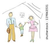 happy family vector | Shutterstock .eps vector #119863531