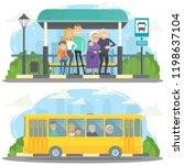 cartoon vector illustration.... | Shutterstock .eps vector #1198637104