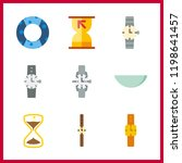 minute icon. watch glass and... | Shutterstock .eps vector #1198641457