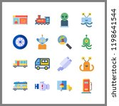 vehicle icon. driving license... | Shutterstock .eps vector #1198641544
