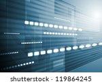 dark blue tech motion...   Shutterstock .eps vector #119864245