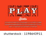 slot machine style font ... | Shutterstock .eps vector #1198643911