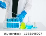 female scientist using a test... | Shutterstock . vector #1198645027