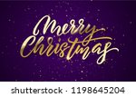 christmas golden light sparkles ... | Shutterstock .eps vector #1198645204