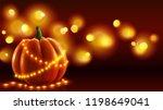 realistic pumpkin illustration... | Shutterstock . vector #1198649041