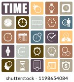 time icons set | Shutterstock .eps vector #1198654084
