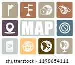map icons set | Shutterstock .eps vector #1198654111