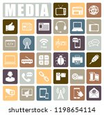 media icons set | Shutterstock .eps vector #1198654114