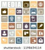 media icons set | Shutterstock .eps vector #1198654114