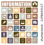 information icons set | Shutterstock .eps vector #1198654117