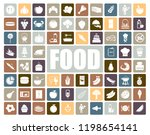 food icons set | Shutterstock .eps vector #1198654141