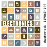 electronics icons set | Shutterstock .eps vector #1198654144