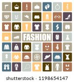 fashion icons set | Shutterstock .eps vector #1198654147