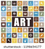 art icons set | Shutterstock .eps vector #1198654177