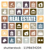 real estate icons set | Shutterstock .eps vector #1198654204
