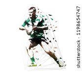 rugby player running with ball  ... | Shutterstock .eps vector #1198654747