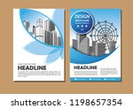 brochure template layout  cover ... | Shutterstock .eps vector #1198657354