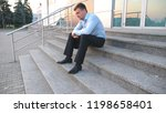 close up of upset sad manager...   Shutterstock . vector #1198658401