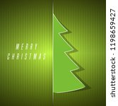 green christmas tree template | Shutterstock .eps vector #1198659427