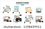 business analytic graph report .... | Shutterstock .eps vector #1198659511