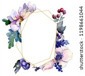 watercolor colorful bouquet...   Shutterstock . vector #1198661044