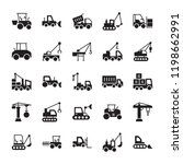 construction machinery solid... | Shutterstock .eps vector #1198662991