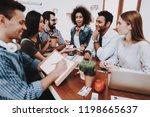 creat ideas. look. young people.... | Shutterstock . vector #1198665637