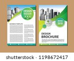 brochure template layout  cover ... | Shutterstock .eps vector #1198672417